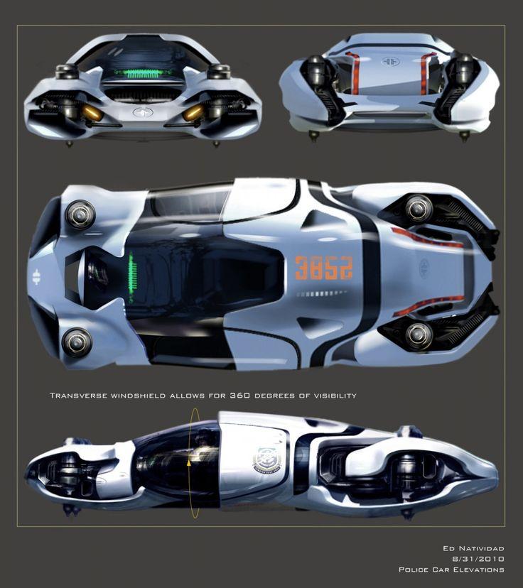 Futuristic Car, Total Recall Concept Art By Ed Natividad