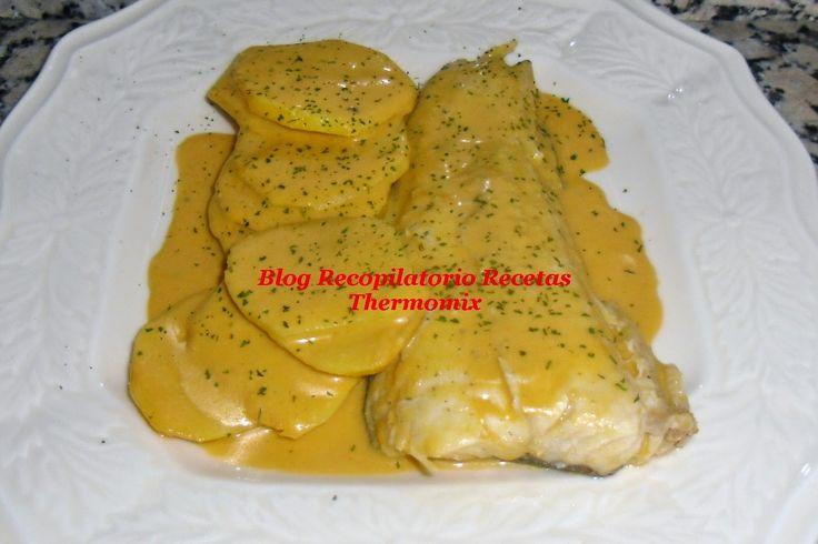 pescado en salsa de almendras thermomix