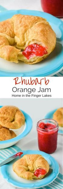 Kick off canning season with Rhubarb Orange Jam recipe. This gorgeous jam has amazing flavour and is super easy to make.