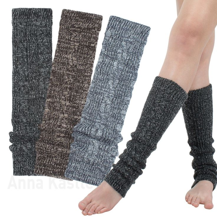 AnnaKastle Womens Girls Wool Blend Marled Cable Knit Leg Warmers 3 Colors | eBay