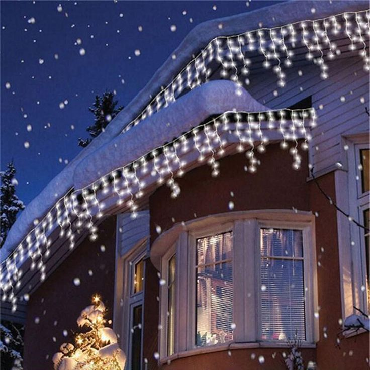 Christmas 4M 96 LED Indoor Outdoor String Lights 110-220V Curtain Icicle Drop LED Party Garden Stage Decorative Light at Banggood