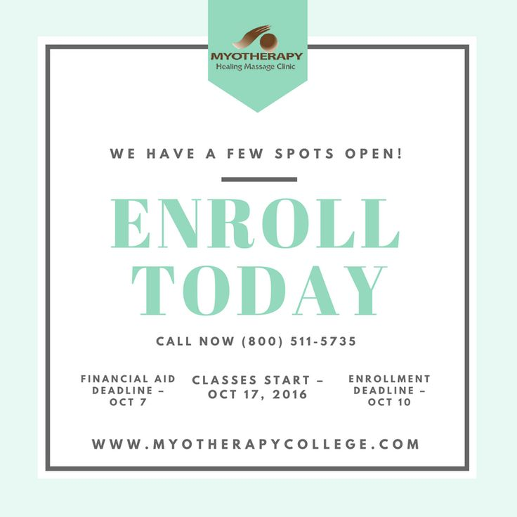 Enroll today for 2016. We have few spots left! #massagetherapist #massageschool