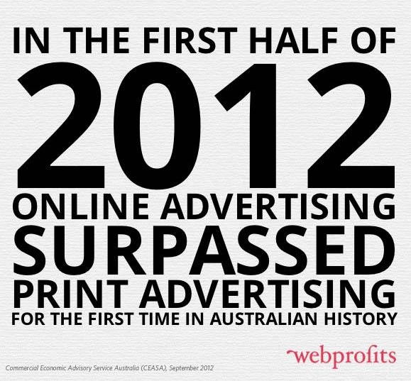 #Online #Advertising surpassed print advertising for the first time in #Australian history