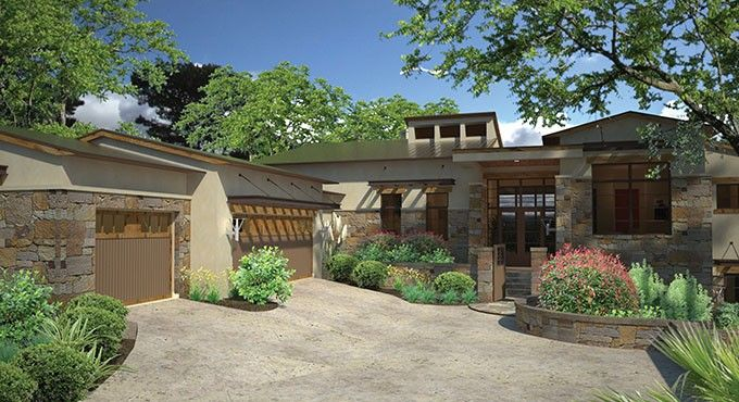 Contemporary-Modern House Plan with 4264 Square Feet and 3 Bedrooms from Dream Home Source | House Plan Code DHSW076926