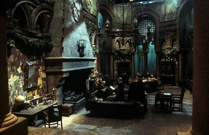 Slytherin Common Room In The Dungeon Under The Lake