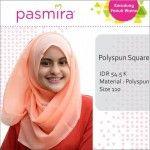 Hijab Segiempat Polos Polyspun Pasmira