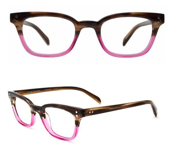 punchline glasses in neapolitan from rivet & sway.