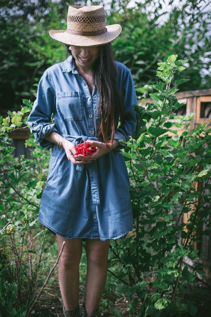 tenue pour jardiniere urbaine au potager urbain