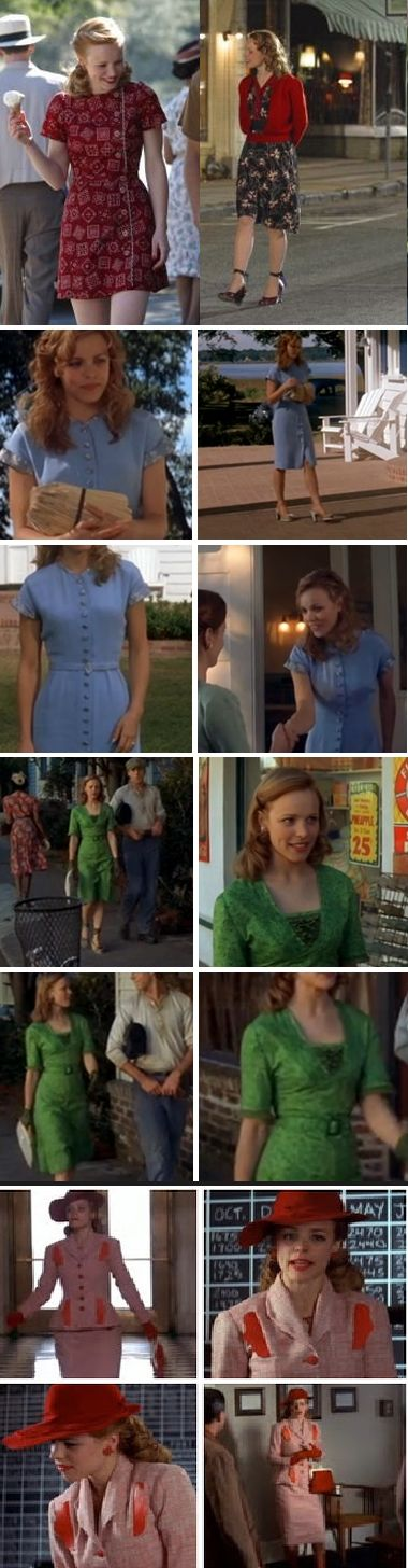 Allie's wardrobe in The Notebook!