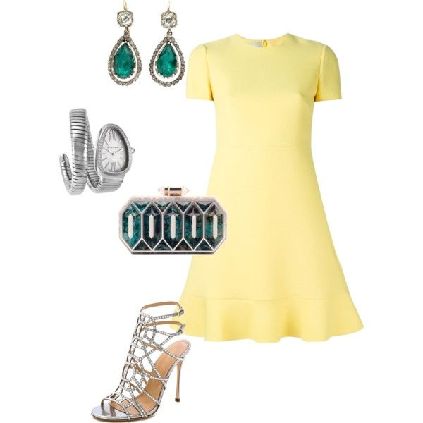 A fashion look from February 2015 featuring Valentino dresses, Sergio Rossi sandals and Lolita Lorenzo clutches. Browse and shop related looks.