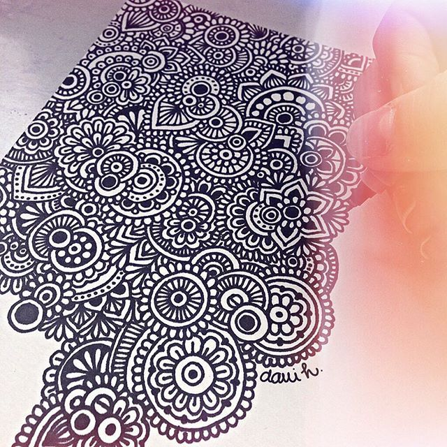 Zentangle art + pasiencia = zentangle hermoso