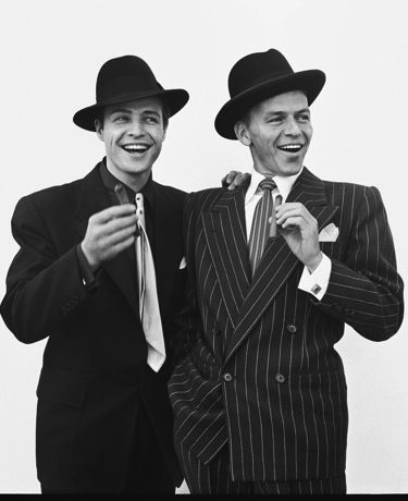 Marlon Brando and Frank Sinatra Together in one of my all time favorite movies - Guys and Dolls Guy Masterson and Nathan Detroit