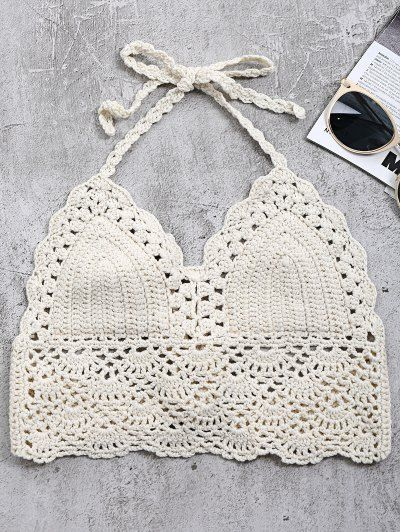 SHARE & Get it FREE | Crochet Back Tie Bralette Swim Top - Off-whiteFor Fashion Lovers only:80,000+ Items • New Arrivals Daily Join Zaful: Get YOUR $50 NOW!