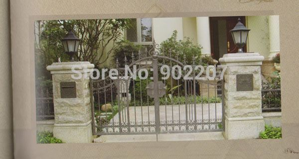 Henchuang wrought iron gate forged iron gates villa wrought iron gates steel metal iron gate design #Affiliate
