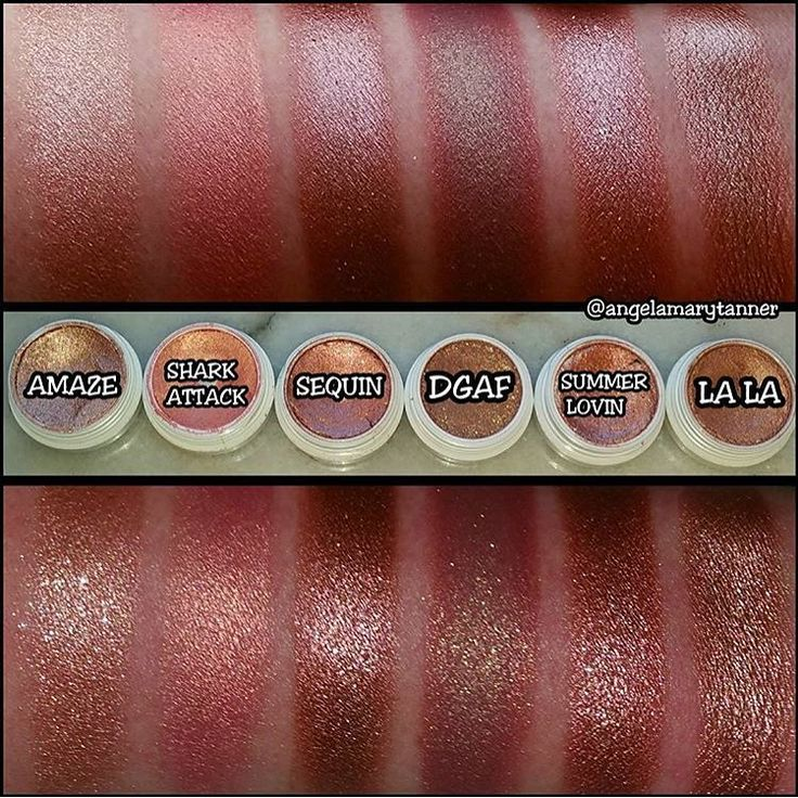 Comparison of rose gold Colourpop shadows - Amaze, Shark ...