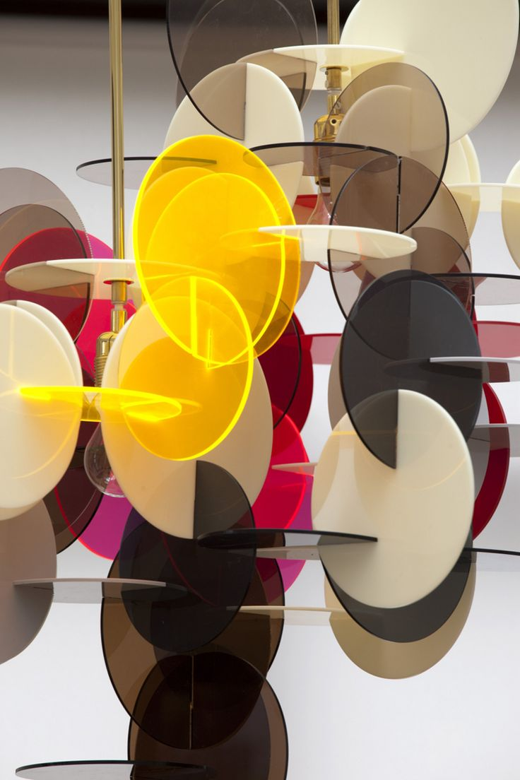 Denmark based designer Vibeke Fonnesberg Schmidt has done it again with the introduction of her latest line of lighting. An unexpected combination of colored Plexiglas and brass