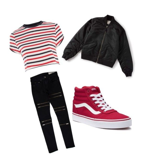 impactful vans red shoes outfit