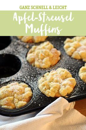 Apfel-Streusel Muffins, oben knusprig und unten saftig und locker!