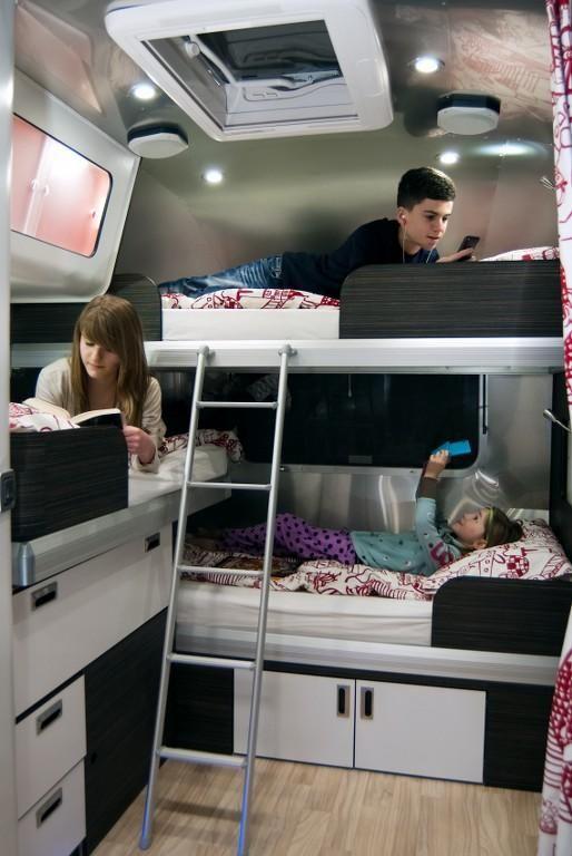how to put bunkbeds in a caravan