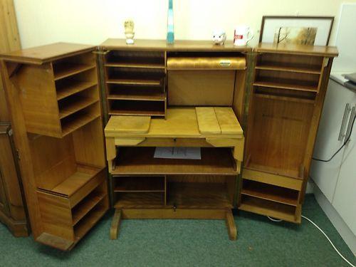 Retro Vintage Teak Folding Home Office Fold Away Desk Rare