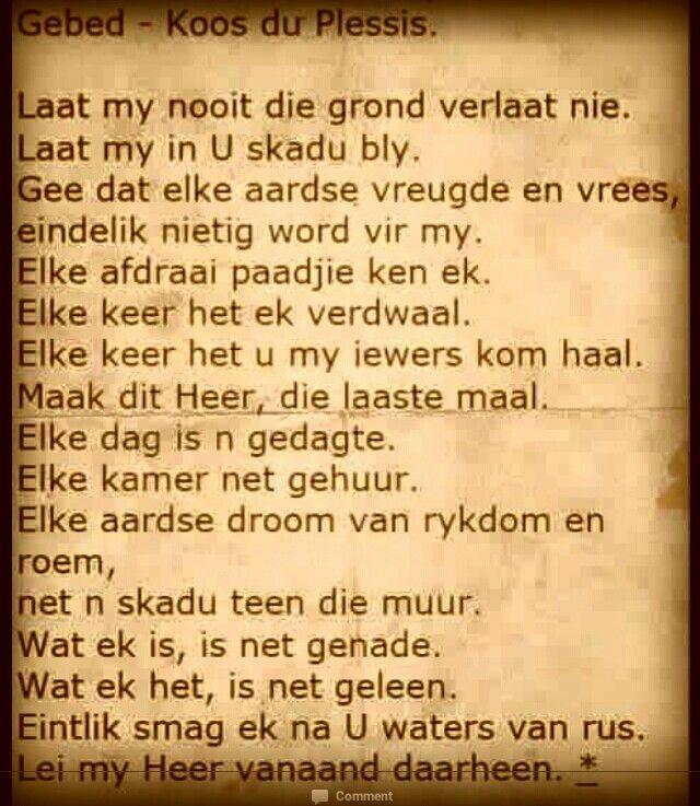 """""""GEBED""""  ~ Koos du Plessis"""