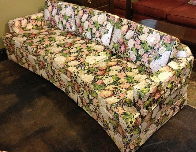 Vintage Floral Sofa By Newleafgalleries, Via Flickr