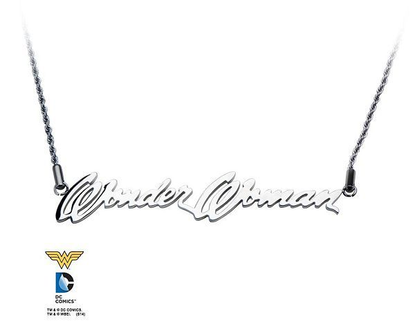 Wonder Woman Nameplate Logo Necklace