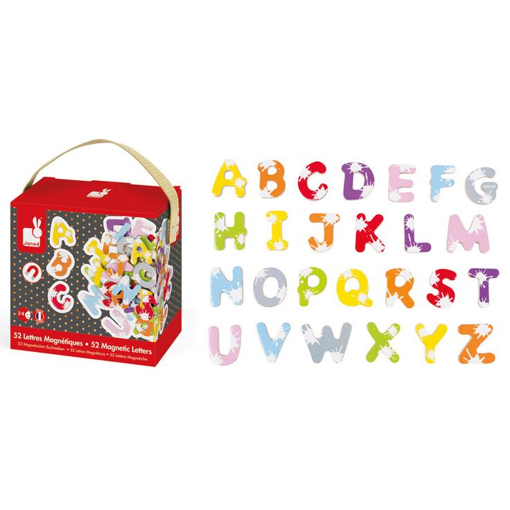 Fun, bright assorted uppercase magnetic letters.  AGE 3+