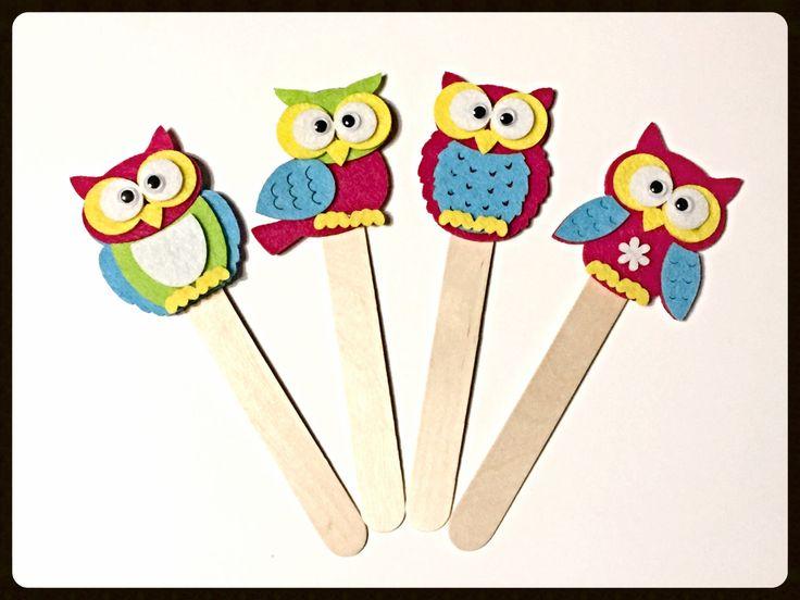 "Bookmark ""VERNAL OWL"" - Handmade Bookmarks, Owls, Felt Creatios, Wood, Gift Idea, Favor, Favors di TheEmporiumOfWonders su Etsy"