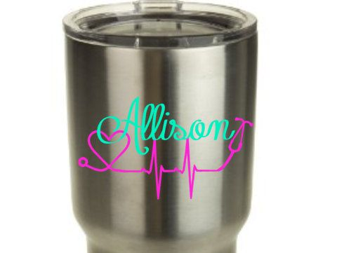 Stethoscope Nurse Yeti Decal Decal For Yeti Cup