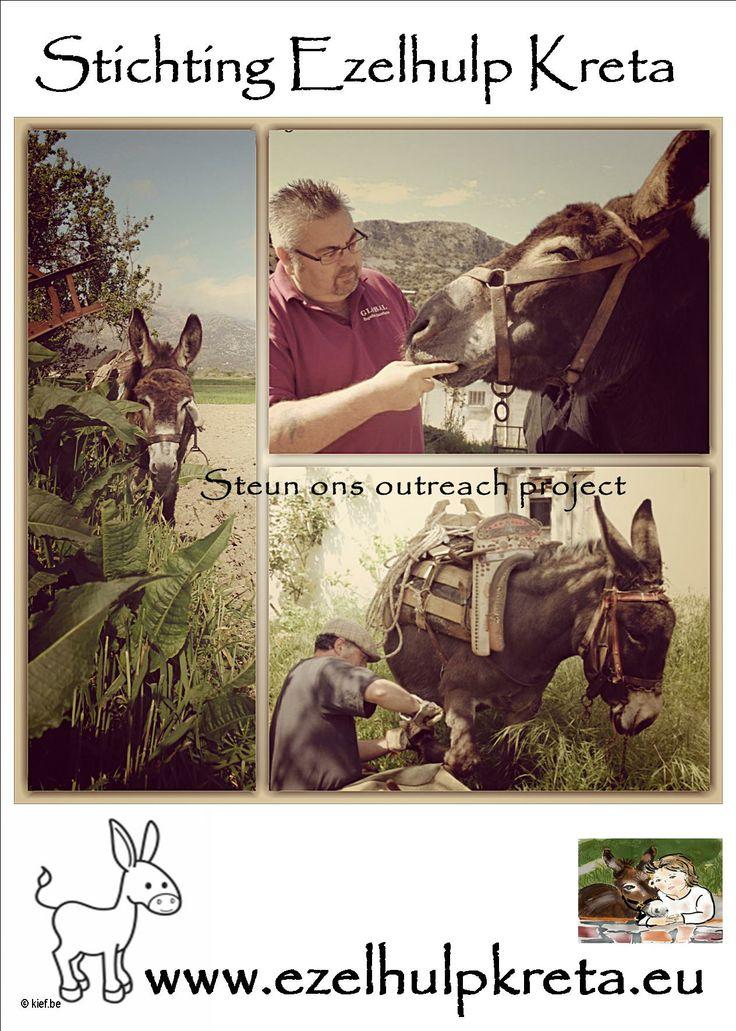 Hulp aan de ezels op Kreta