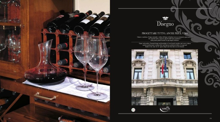 Luxusní dřevěné domácí vinotéky Arca, více na: http://www.saloncardinal.com/arca-78c