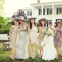 Bridesmaid Dresses with traditional colombian hats
