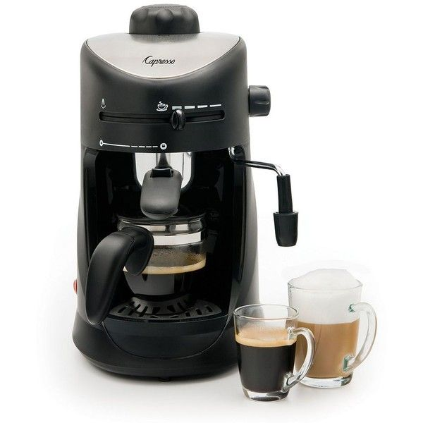 Capresso 4-Cup Espresso & Cappuccino Machine, Black ($72) ❤ liked on Polyvore featuring home, kitchen & dining, small appliances, black, capresso cappuccino machine, capresso espresso maker, capresso espresso machine, espresso frother and espresso boiler