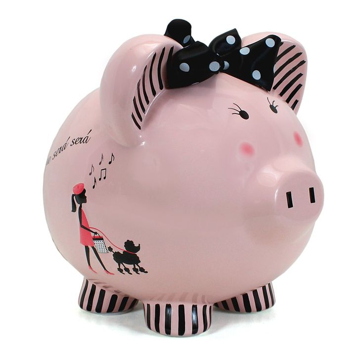 Pretty Poodle Piggy Bank