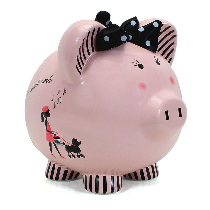 Pretty Poodle Piggy Bank