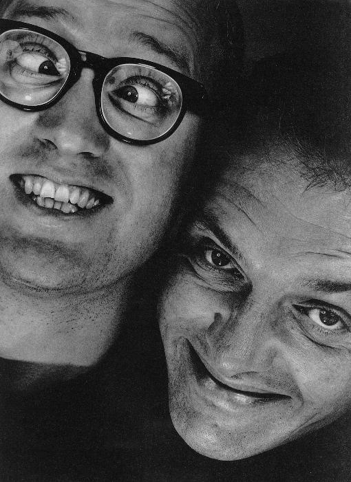 Rik Mayall & Ade Edmondson, watching the young ones in the eighties and rein acting it all at school the next day...