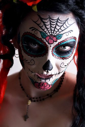 halloween: Halloween Costumes, Faces Paintings, Halloween Makeup, Body Painting, Makeup Ideas, Sugar Skull Makeup, Sugar Skull Girl, Dead, Costumes Ideas