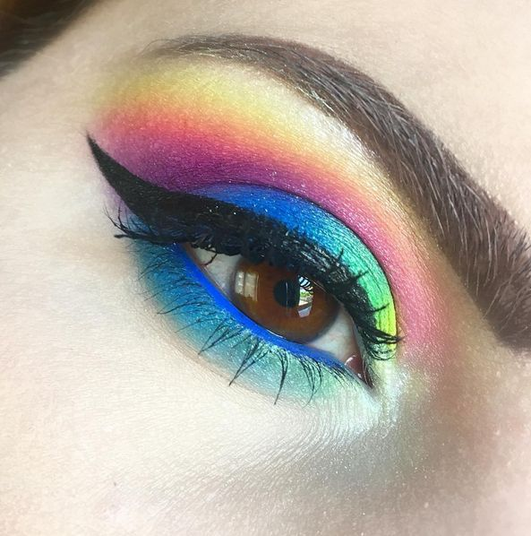 Trucco arcobaleno - @thebeautydesire