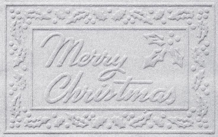 Aqua Shield Merry Christmas Doormat