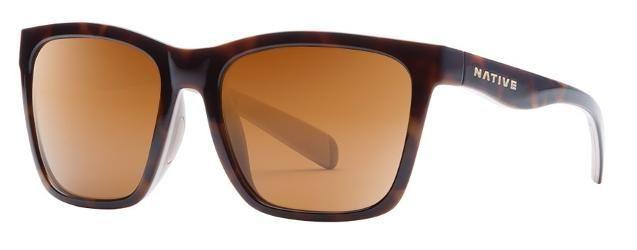 Native Eyewear Women's Braiden Polarized Sunglasses Shiny Tortoise/Pale Pink Brown