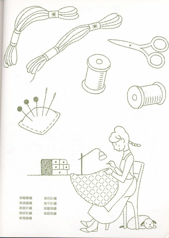 Line Drawing Embroidery : Best line drawings for embroidery sewing needlework