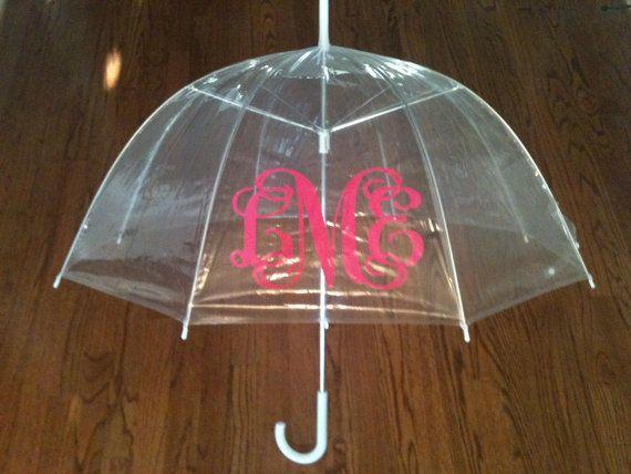 Monogrammed Children's Clear Dome Umbrella by LittleDetailsNC, $24.00