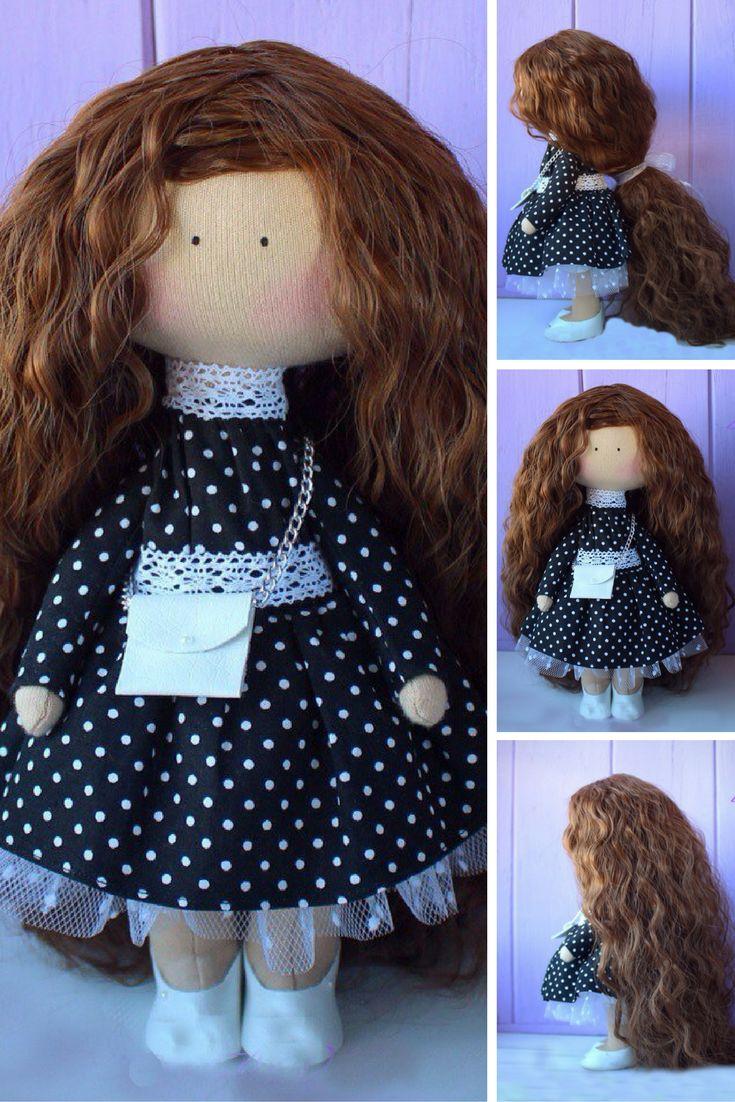Teenager doll Handmade doll Rag doll Tilda doll Fabric doll Blue doll Cloth doll Interior doll Nursery doll Soft doll Baby doll by Elena: https://www.etsy.com/listing/486857810/teenager-doll-handmade-doll-rag-doll