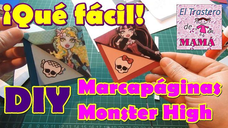Cómo hacer marcapáginas de esquina de las Monster High