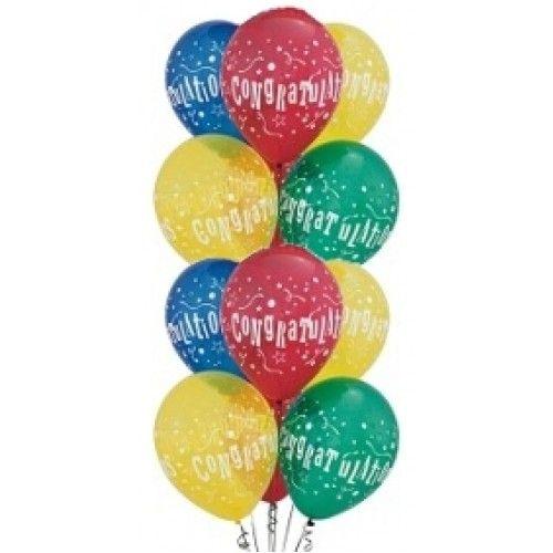 Congratulations Balloons Cluster Congratulations