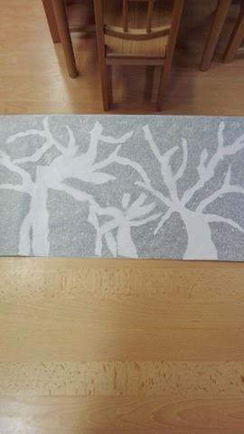 """Téli fák selyempapírral """"borítva"""""""