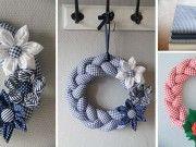 Návod a krásné inspirace, jak si vlastníma rukama vyrobit pletené látkové věnce