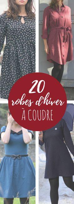 20 modèles de jolies robes d'hiver à coudre !                                                                                                                                                                                 Plus