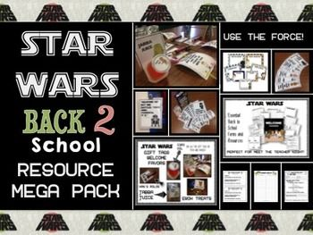 Meet the Teacher ~ Open House ~ Back to School Back to school is almost upon us!  Open house or meet the teacher night is just around the corner!  Looking for a different theme for this years back to school festivities This bursting at the seams resource pack comes with a plethora of Star Wars themed resources for you to use in your classroom this year!